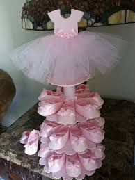 ballerina baby shower decorations three tier pink ballerina shoe favor stand with shoe favors