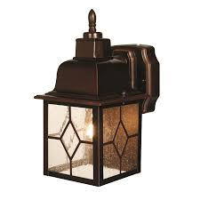 shop heath zenith 11 7 in h antique bronze motion activated