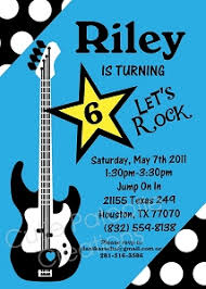 disco and rockstar themed party invitations