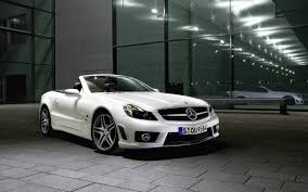 white mercedes convertible car wallpaper of white sl amg convertible roadster mercedes