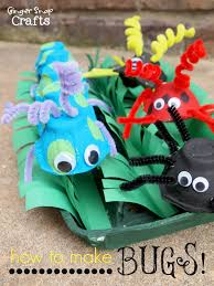 ginger snap crafts egg carton bugs kid craft tutorial