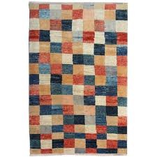 Orange Modern Rugs Contemporary Rugs Modern Carpet Plaid Design Afghan Rugs