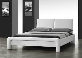 Double Faux Leather Bed Frame by Stunning Modern Designer Double Or King Size Faux Leather Bed