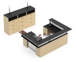 global zira series u shaped reception desk with file cabinets