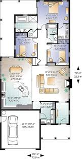 Home Plans For Florida W3241 3 Bedroom Bungalow With 9 Ceilings Garage And Terrace On