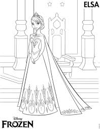 elsa coronation coloring free printable coloring pages