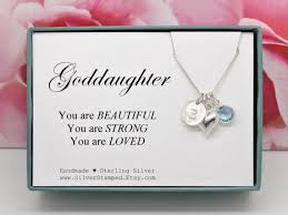 necklace silver etsy images Gift for goddaughter gift necklace sterling silver etsy jpg