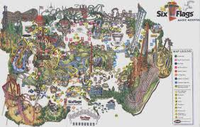 Six Flags Locations California Theme Park Brochures Six Flags Magic Mountain Theme Park Brochures