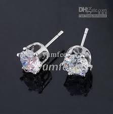 cubic zirconia earrings 2018 6mm cz cubic zirconia earring stud cz earring promotional