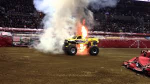 monster truck racing youtube monster jam truck catches fire youtube