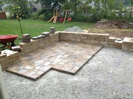 How To Make A Patio Out Of Pavers Installing Paver Patio Free Home Decor Techhungry Us