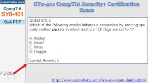 Tcp Flags Get Real Exam Question And Answers For Comptia Sy0 401 Youtube