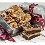 mrs fields brownies mrs fields brownie cookie gift basket home kitchen