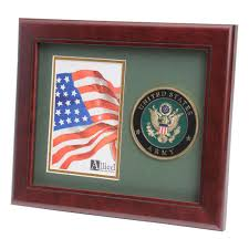 Interment Flag Army Medallion 4 Inch By 6 Inch Portrait Picture Frame