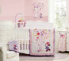 Crib Bedding Set Minnie Mouse Minnie Mouse Blossoms Premier 3 Canvas Wall