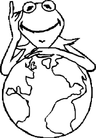 kermit frog globe coloring pages coloring sky