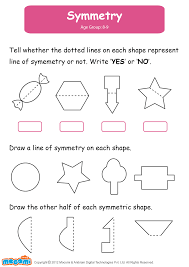 symmetry math worksheet for kids for more interesting maths