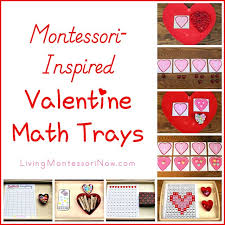 montessori inspired valentine math trays