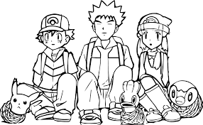 pokemon coloring pages misty pretty ash and pikachu coloring pages photos exle resume and