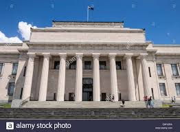 Neoclassical Architecture The Auckland Museum Building In The Auckland Domain Parnell New