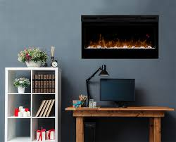 dimplex prism 34 in electric fireplace w driftwood log set