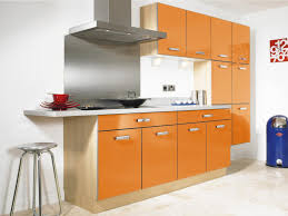 orange kitchen ideas modern gloss orange kitchen with yellow color design ideas for