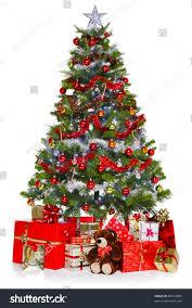 photo tree decorations lights surrounded stock photo