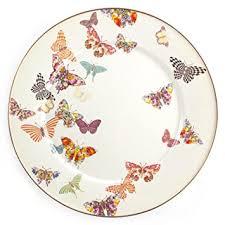 mackenzie childs butterfly garden enamel serving