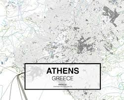 Athens Map Atenas Athens Greece Download Cad Map City In Dwg Ready To Use In