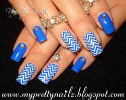 17 royal blue and white nail designs 12 attractive blue short