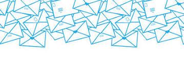 envelope border pattern postal letters envelopes line art horizontal stock vector