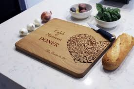 cutting board with recipe engraved doner personalized cutting boards etchey