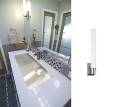Contemporary Wall Sconces Modern Wall Sconce Completes Contemporary Bathroom Remodel Blog