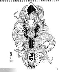 traditional black and white japanese flash tattoo designs google