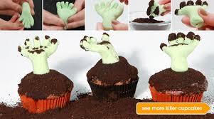 zombie cupcakes halloween epicurious com epicurious com