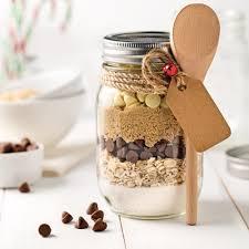 cadeau noel cuisine pot de préparation pour biscuits aux pépites de chocolat et flocons