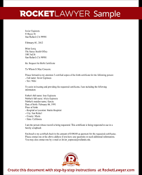 request birth certificate letter form how to request a birth