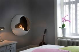 unique fireplaces decorating modern bedroom design with unique ethanol fireplace