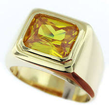 gold ring for men topaz yellow gold rings for men ebay