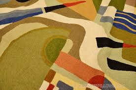 Miro 5ft X 7ft Wool by Kandinsky Abstract Composition Wool Rug Wall Tapestry Hand