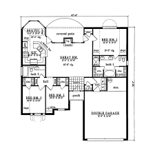 plan42 traditional style house plan 3 beds 2 baths 1399 sq ft plan 42