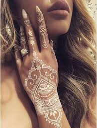25 reasons to fall in love with white henna tattoos fashion and