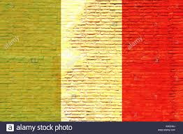 Italy National Flag Italy National Flag Painted On A Brick Wall 3d Illustration Stock