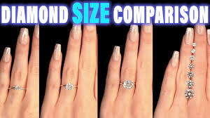 2 carat ring diamond size comparison on finger carat 1 2 3 4 0 5 ct 0 25