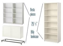 Ikea Billy Corner Bookcase Dimensions Besta Billy U0026 Brass Bookcases Centsational Style