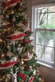 christmas tree bows on christmas trees how to put ribbon on a