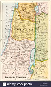 Dora Map Map Of Southern Palestine In Biblical Times Stock Photo Royalty