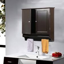 wall mounted kitchen storage cupboards yaheetech bathroom kitchen wall mounted cabinet