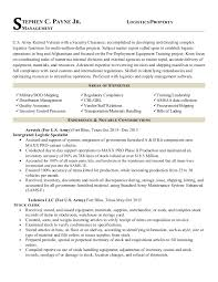 Army To Civilian Resume Examples by Army Officer Resume Contegri Com