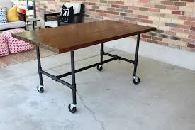 Table Legs With Casters by Diy Plumbing Pipe Table Tutorial